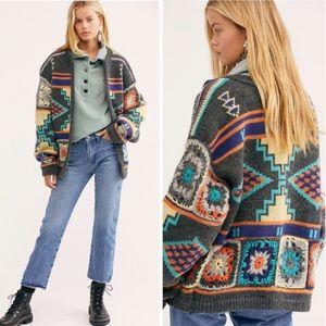 NWT RARE Free People Santa Rosa Crochet Cardigan